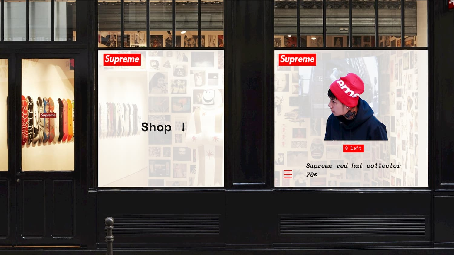 Digital and graphic design for the brand Supreme