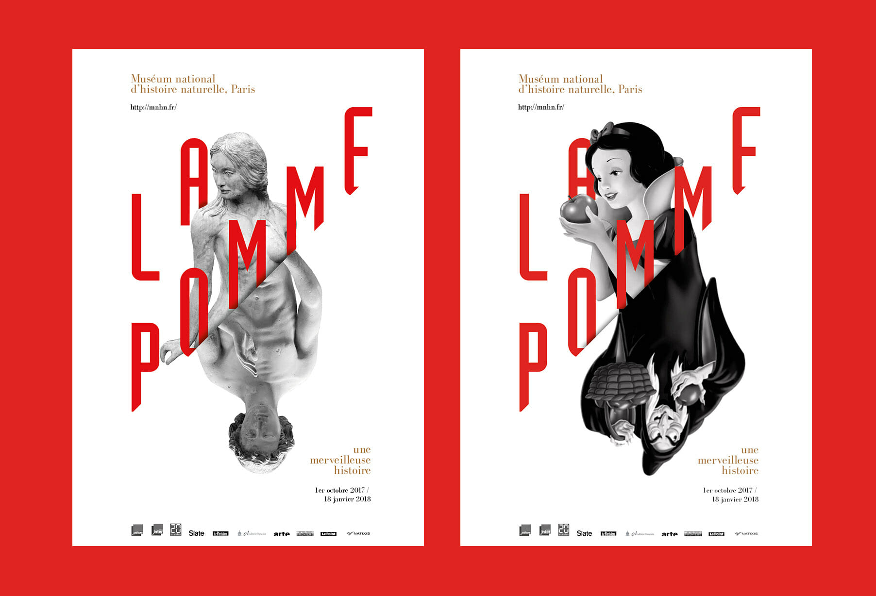 Branding for the exhibition of la pomme